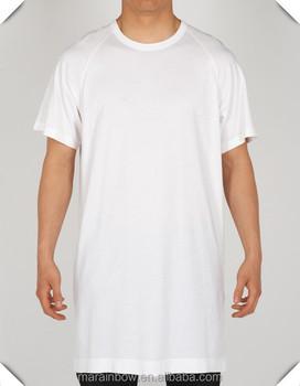 White 100% Cotton Plain Mens Short Sleeve Longline T Shirt Oversized T  Shirt Elongated T 79037d189e70