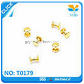 Factory10mm wholesale brass metal of magnetic buttons for bags
