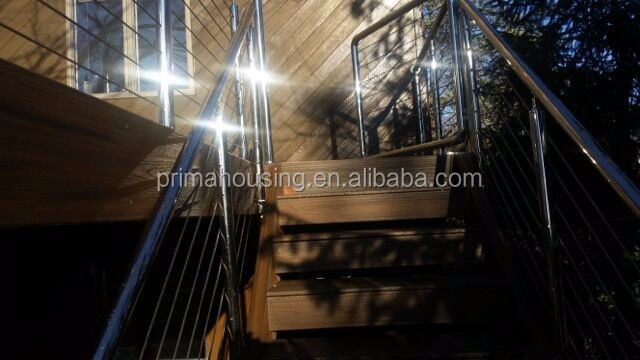 Top Solid Wood Staircase Stainless Steel Balusters Glass Panel ...