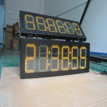 double face amber color 00:00:00 led temperature display /outdoor led time count down display