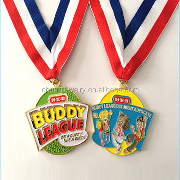 OEM Zinc Alloy Medal With Customed Design <strong>Logo</strong> With Ribbon