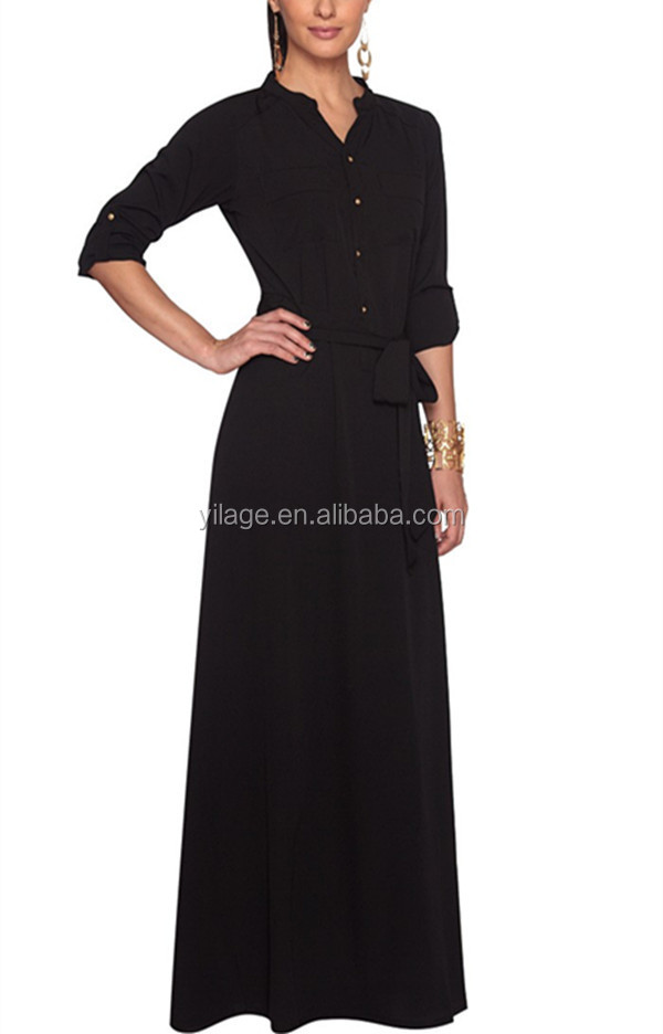 china factory wholesale price 2015 islamic custom formal dress middle -east muslim long dress QWMD201505
