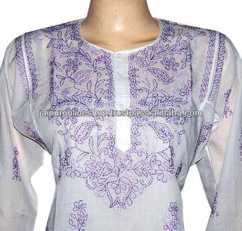 embroidered kurti, Cotton embroidery kurti