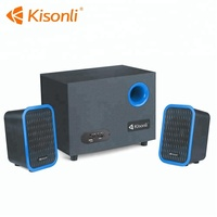 Portable USB Powered 2.1 Audio Desktop Computer Stereo Wired Speaker