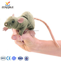 Custom educational baby plush toy soft stuffed animal mouse finger puppet
