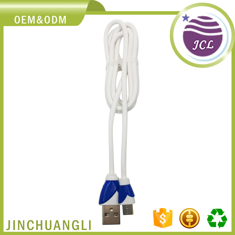 TPE material high quality micro usb extension data cable 1m charging cable