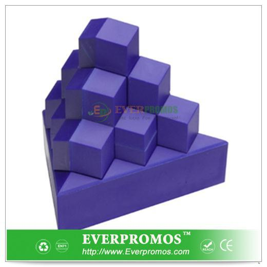 Pyramid Stack Puzzle - Blue For Promotion Gifts