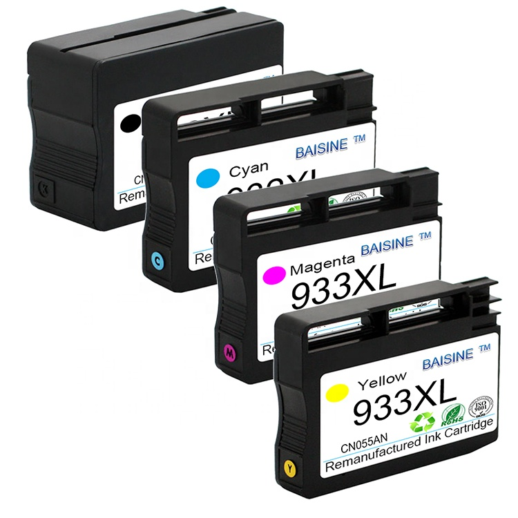 Baisine Direct sales Premium Ink Cartridge 932XL 933XL Compatible for Officejet 7110 7510 7610 Inkjet Printer Cartridge H 933