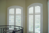 Arch shape plantation shutters window blinds and shades of high quality standard