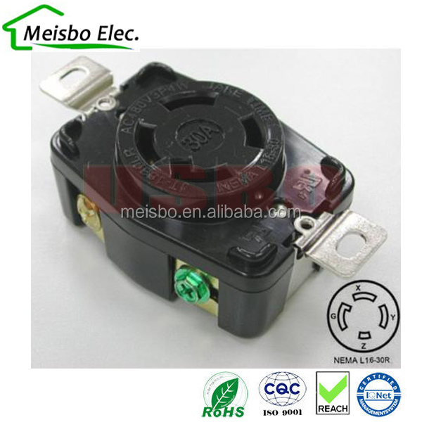 NEMA locking four holes US motor industrial power outlet