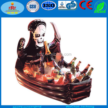halloween inflatable coffin drinks cooler inflatable skeleton cooler
