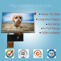 4.3 inch LCD screen sunlight readble LCD module with resistive touch panel