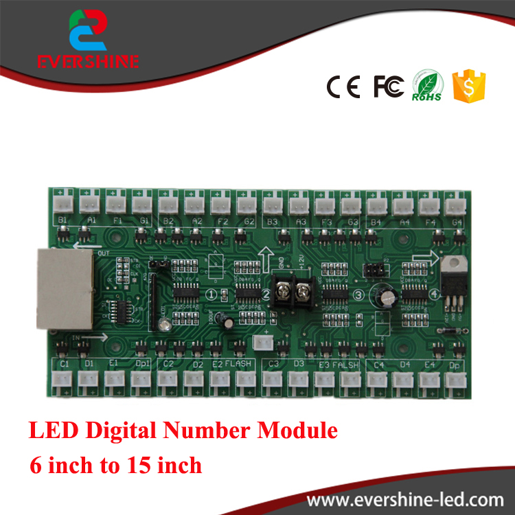 6 inch to 15 inch <strong>date</strong> and time led display outdoor gas price led signs controller led control card 4 digits driver card