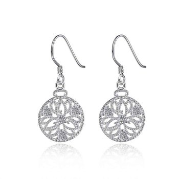 Fantaisie Fashion Designer Silver Earrings Prouds Round Earring Posts And Backs