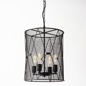 American Style Hanging Lamp Antique Black Color Shade Pendant Light With Chain