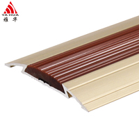 ISO 9001 Factory Various Colors Aluminum Floor Strips Metal Edging Transition Thresholds