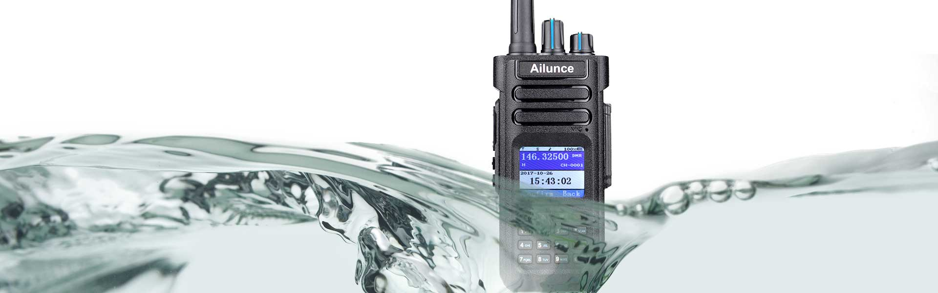 10 Watt Dual Band IP67 10 W UHF VHF DMR Digital Amatuer Walkie Talkie Two Way Radio GPS Woki Toki