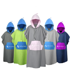 Wholesale Quick Dry Microfiber adult hooded changing beach surf poncho towel