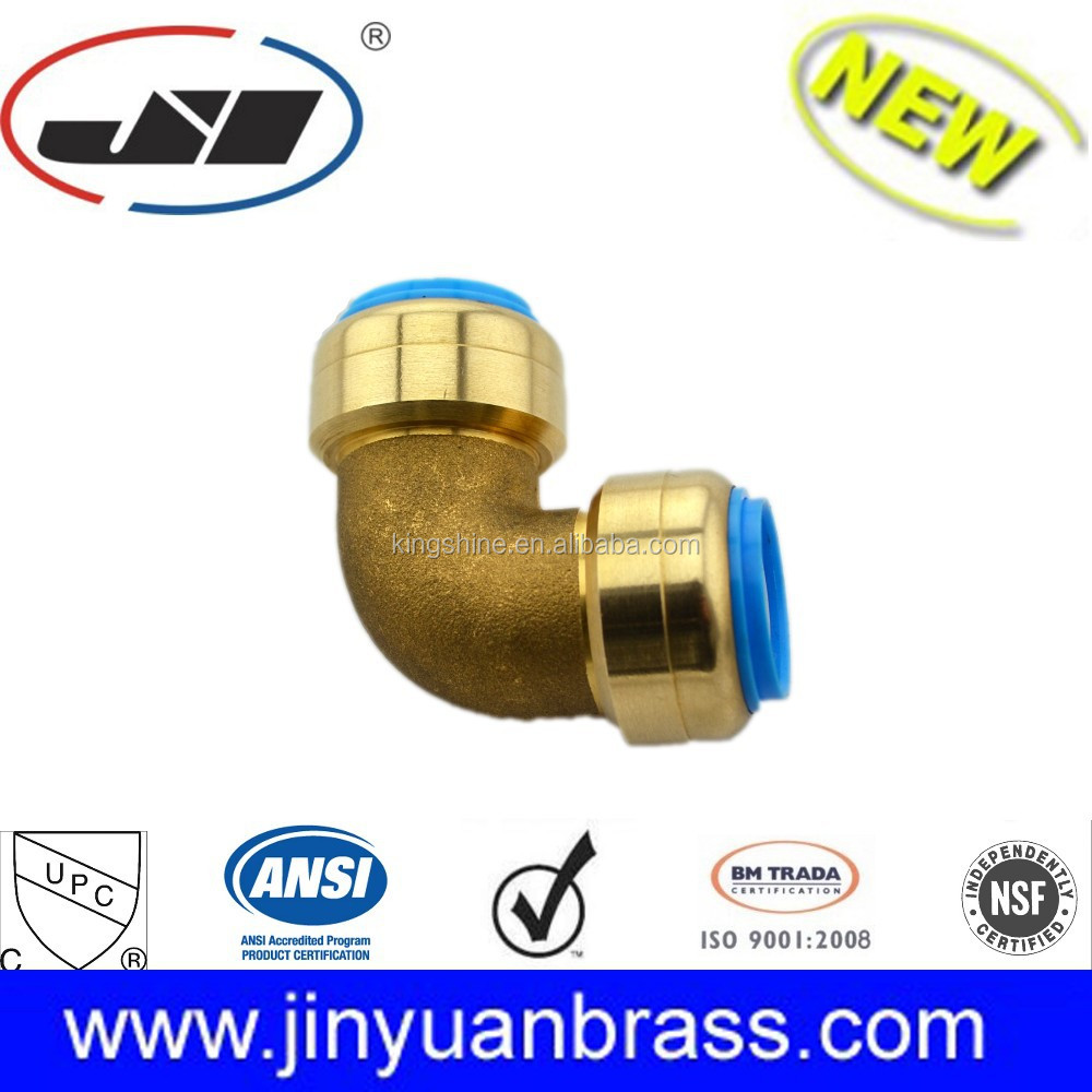 wholesale lead free brass push fit fittings high quality floor heating system brass fitting