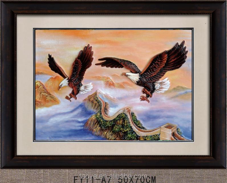 Kreative Montain Sky 3d Hawk Kunstwerk Fliegenden Adler Landschaft ...