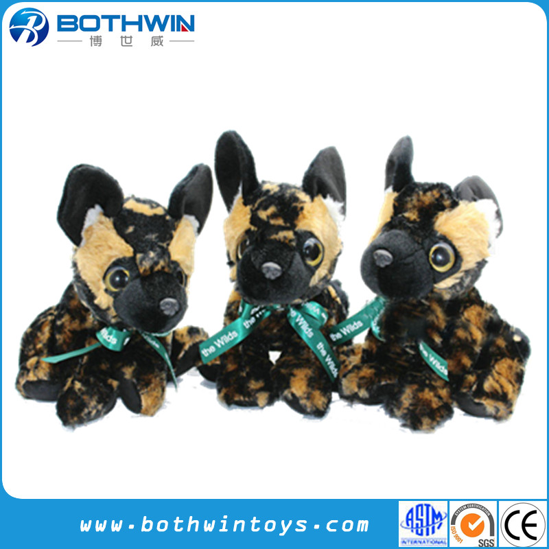 China Toy Supplier Custom Made Stuffed Wild Animal African Wild Dog