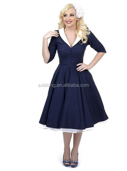 Plus Size Pinup Swing Evening Party Wedding Prom Rockability 50s Vintage  Dress - Buy Rockability 50s Vintage Dress,Plus Size,Plus Size Pinup Swing  ...