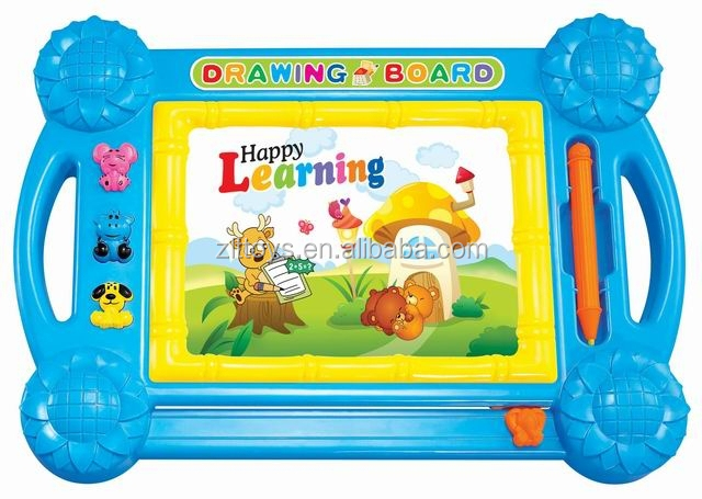 Hot item children education toy color magnetic writing drawing board big size