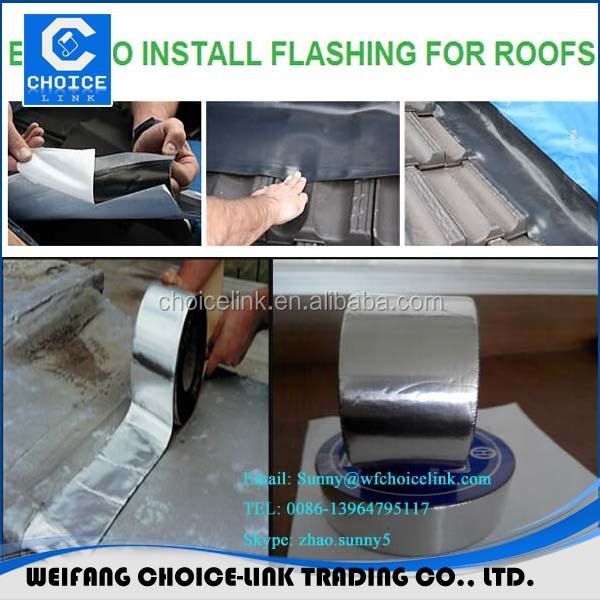 Cheep Prices Aluminum Foil Self-adhesive Rubber Bitumen Flashing Tape/flash  Band - Buy Self Adhesive Roofing Flashing Tape,Aluminium Bitumen Flashing