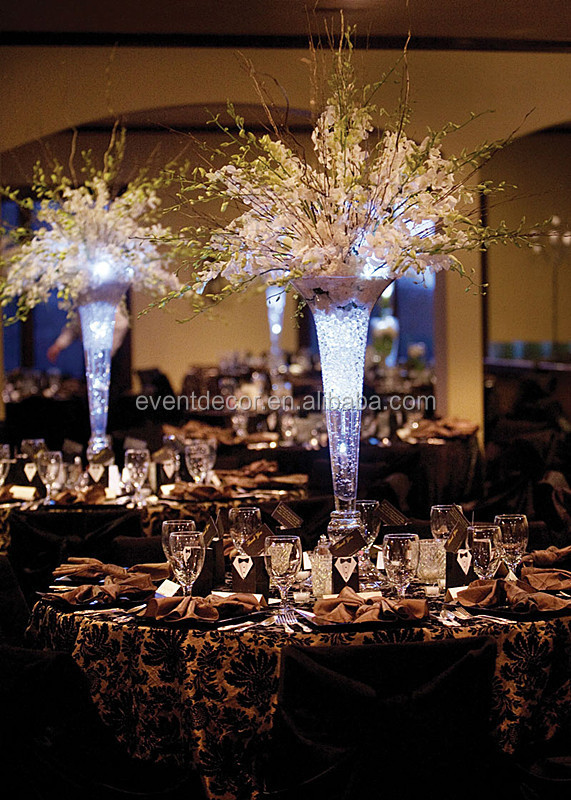 Trumpet Glass Vase Vase Wedding Centerpiece And Flower