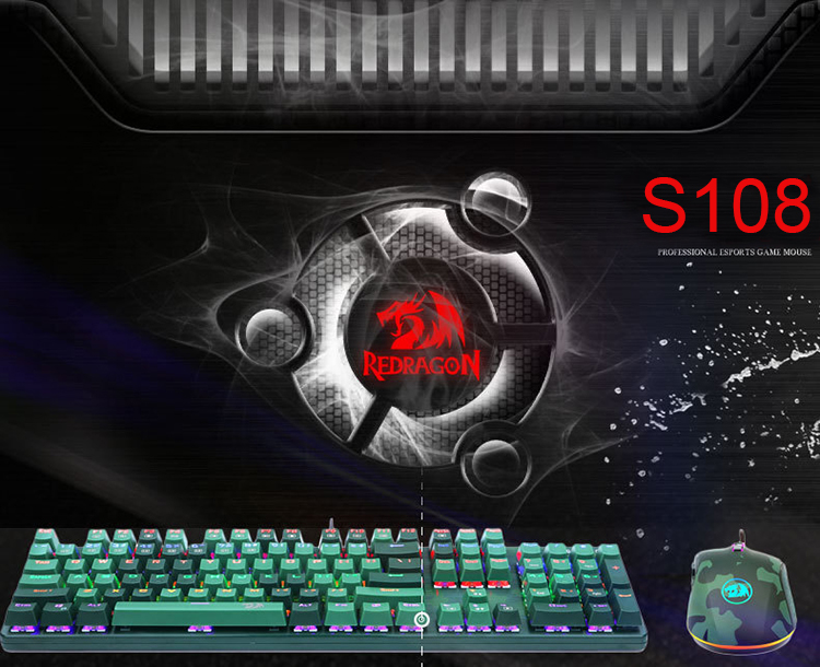 Latest Redragon S108 Wired Camouflage Color Gaming Keyboard And Mouse  Combo, View gaming keyboard and mouse combo, Redragon, Redragon Product  Details