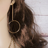 Fashion round long earrings wholesales NSZ-0026