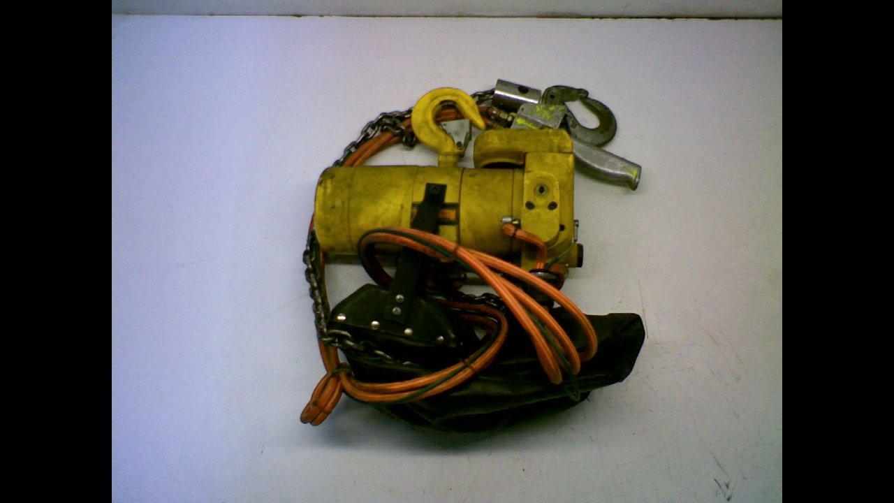Harrington Hoist 1/4 Ton Harrington TCR Air Chain Hoist, Pendant Control, Part No TCR250P