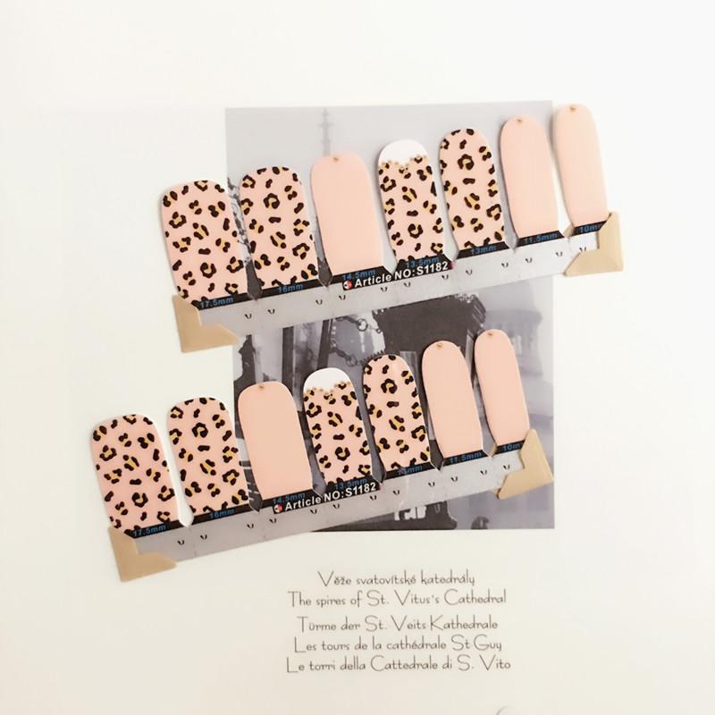 Black Pink Flower print Nail Arts Nail Sticker Waterproof Nail Decal Sticker Gel Polish French Manicure