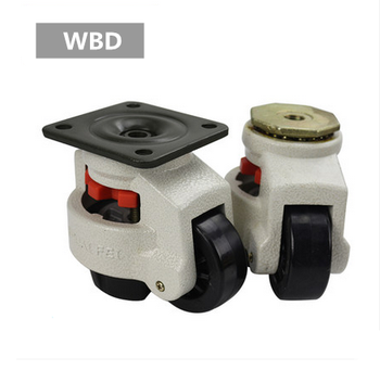 Heavy duty nylon swivel 500 kg height adjustable foot self leveling casters