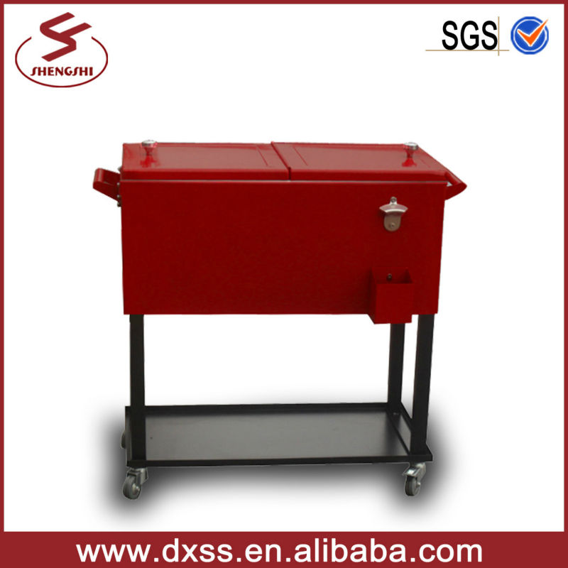 Patio Outdoor Cooler Cart Metal Rolling Cooler Scooter   Buy Cooler  Scooter,Outdoor Patio Cooler,Fish Cooler Box Product On Alibaba.com
