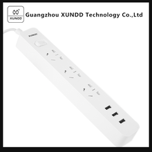 [XUNDD]Electrical Socket with USB Extension Socket with Earthing Electrical Switch Outlet