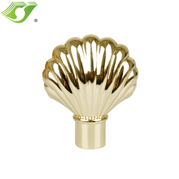 Home decoration Window decoration curtain metal rod head finials