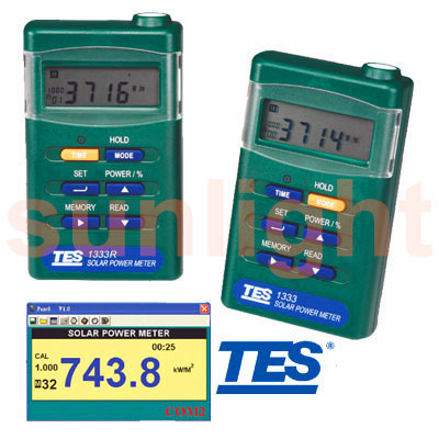 TES-1333R Solar Power Meter with RS232 Datalogger