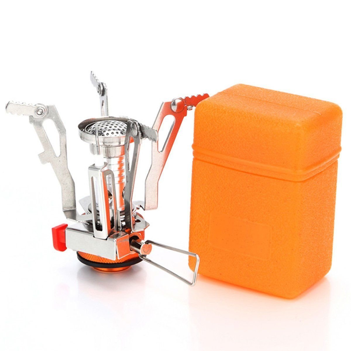 Ultralight Mini Camping Stove with Piezo Ignition For Outdoor Backpacking
