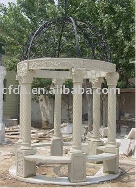 Decorative Yellow Hand-carved Sandstone Gazebo