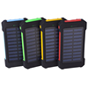 Free sample Solar power bank 10000mah, plastic solar chargers, usb battery solar power banks