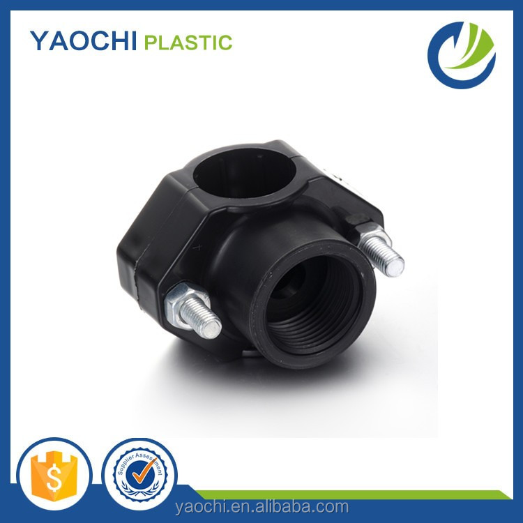 Yaochi FACTORY HDPE PP PE Compression Fitting and Clamp Saddles For Irrigation Building materials from 20-110MM PN16
