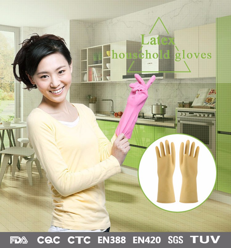 Flexible long safety logo wholesale working rubber gloves buyers