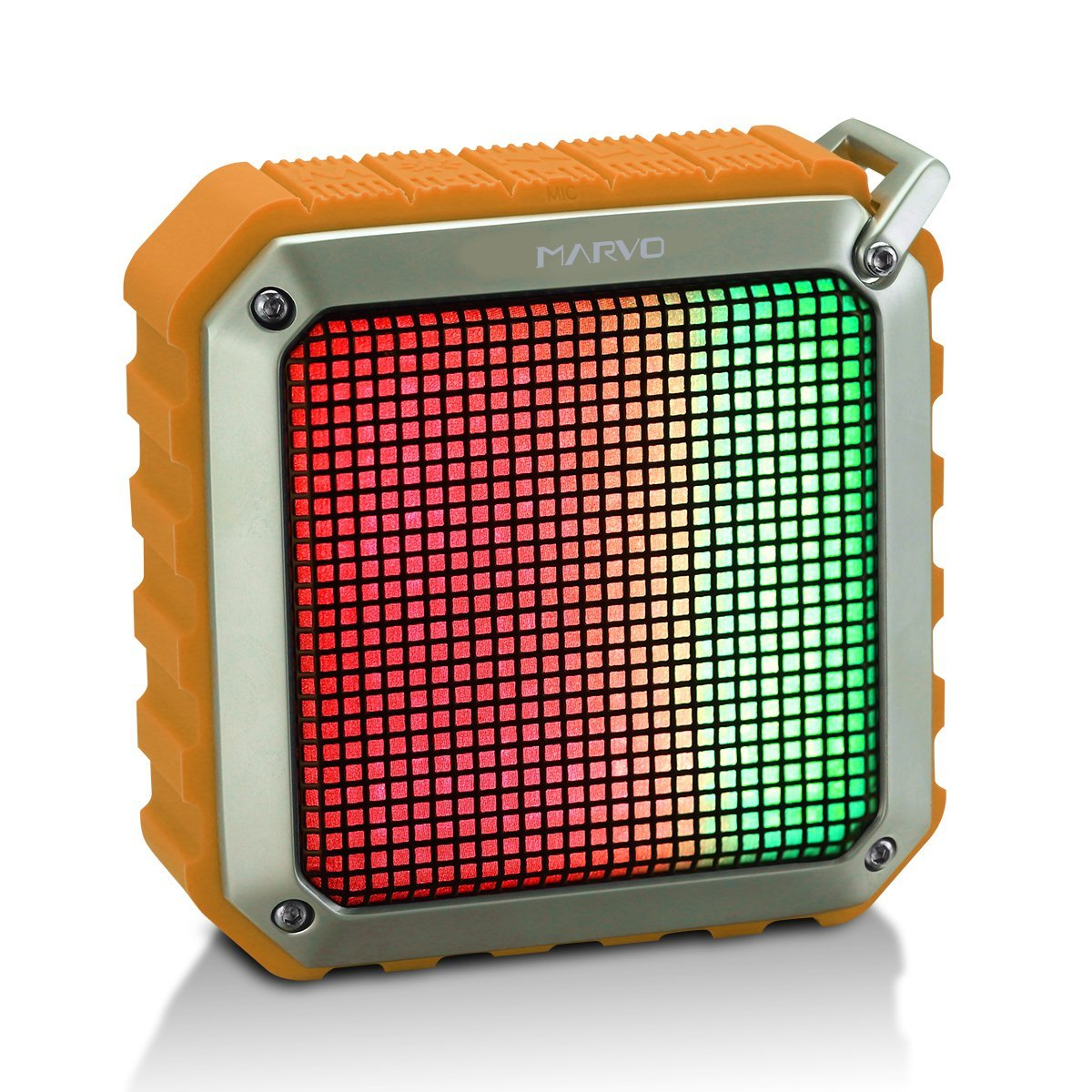 Marvo SV-122 Bluetooth V4.0 Wireless Portable Speaker with 12-Hour Playtime,66-Foot Bluetooth Rang,Low Harmonic Distortion,Superior Sound with LED Rainbow Light(Orange)