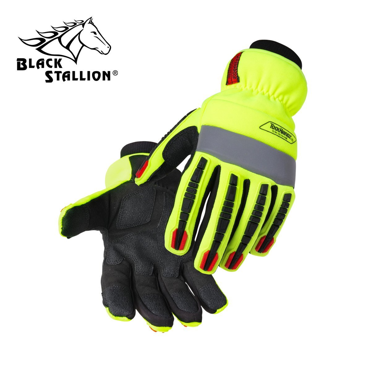 REVCO BLACK STALLION - GW1010-HB TOOLHANDZ HI-VIS SYNTHETIC LEATHER WINTER GLOVES - SIZE: MEDIUM - CASE OF: 60 PAIR