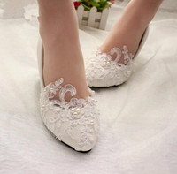 cy11674a Hot Sale White Flat Shoes Ballet Flat Women Wedding Shoes for Bride