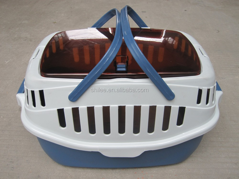 Plastic Pet carrierand dog cage for airline travel