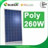 Bluesun Quality Guaranteed 260W Poly Solar Panel Modules with 25years power output warranty