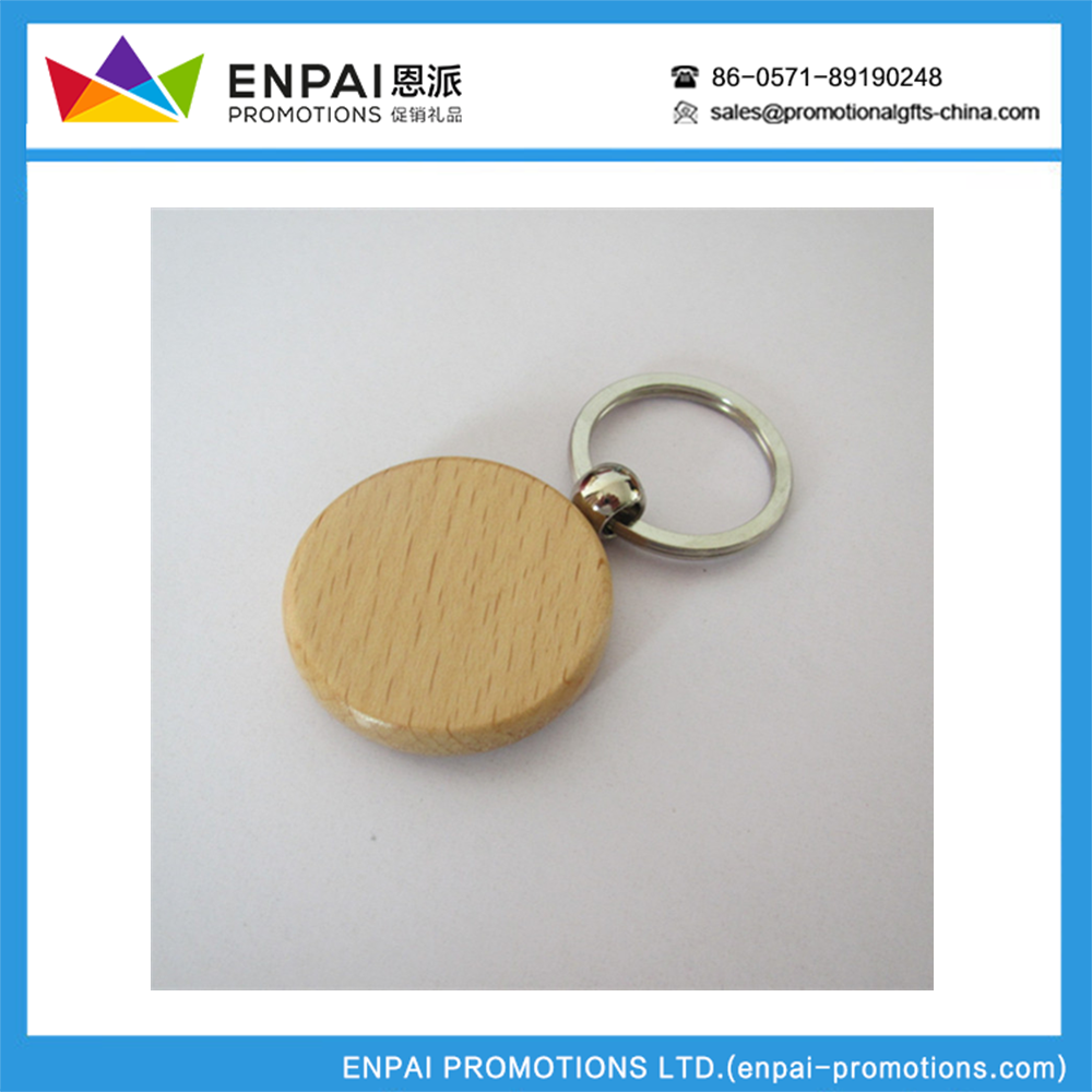 cheap hot-selling portable new design wood keychain key ring