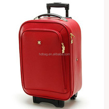hot sell fashion lightweight lady decent hard red pu patent leather trolley travel luggage